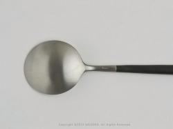 cutipol(クチポール)カトラリーのGOA/ブラックシルバーシリーズのデザートスプーン