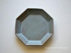 taro-cobo(タロウ工房)  竹之内太郎の器(陶器)八角リム皿シリーズ
